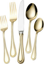 Wallace Gold-Plated Continental Bead 65-pc. 18/10 Stainless Steel Flatware Set