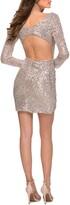 Thumbnail for your product : La Femme Sequin Long Sleeve Sheath Dress