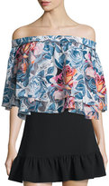 Elizabeth and James Vanessa Off-The-Shoulder Floral-Print Top, Multi Colors