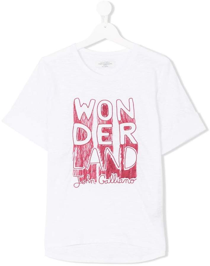 John Galliano TEEN wonder print T-shirt