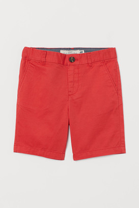 H&M Cotton Chino Shorts - Red