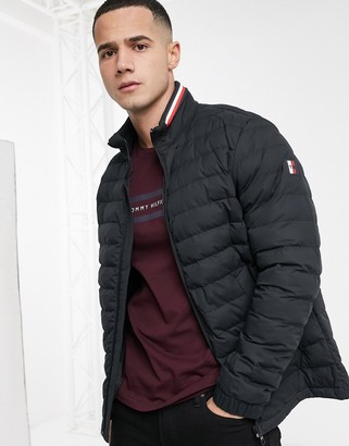 Tommy Hilfiger stretch quilted nylon jacket in black
