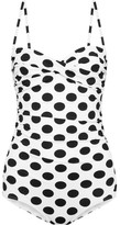 Dolce & Gabbana Ruched Polka-dot Swimsuit - White
