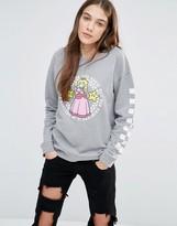 Vans Nintendo Sweatshirt With Princess Peach Logo
