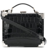 Aspinal of London crocodile effect box tote