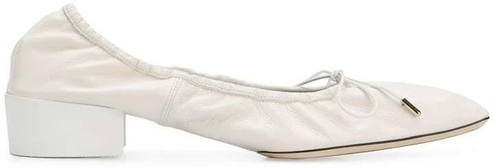 Nina Ricci square toe heeled ballerinas