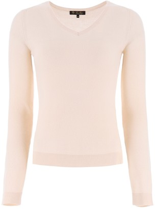 Loro Piana Long-Sleeved V-Neck Sweater