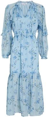 Intermix Ariana Floral Silk Midi Dress