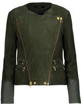 Muu Baa Muubaa Gloster leather-trimmed suede biker jacket