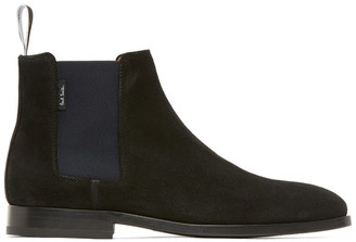 Paul Smith Black Suede Gerald Chelsea Boots