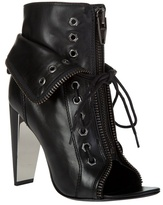 ALEXANDER WANG - 'Freja' lace-up leather stiletto boot