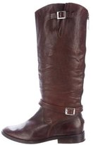 Golden Goose Deluxe Brand Round-Toe Leather Boots