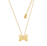 Disney Gold Plated Minnie Mouse Bow Necklace