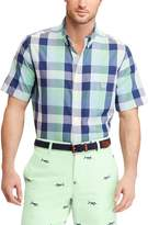 Chaps Men's Classic-Fit Checked Easy-Care Button-Down Shirt