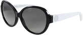 Michael Kors Black & Off-White Cat-Eye Sunglasses