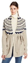 French Connection Women's Fran Fair Isle Sweater Cardigan