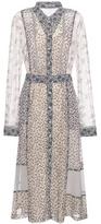 Bottega Veneta Printed Silk Shirt Dress