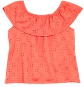 Bloomie's Girls' Eyelet Top, Little Kid - 100% Exclusive