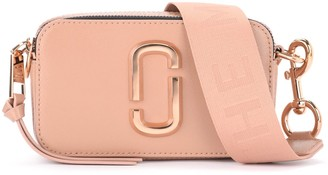 Marc Jacobs Snapshot Small Camera Bag Shoulder Bag In Powder Pink Saffiano Leather