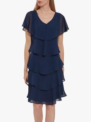 Gina Bacconi Lona Tiered Dress
