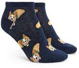 Forever 21 FOREVER 21+ Corgi Print Ankle Socks