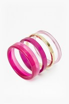 French Connection Colour Block Bangle Set
