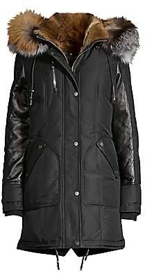 Nicole Benisti Women's Chelsea Intarsia Fur Lined Puffer Jacket