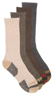 Timberland Ribbed Men's Boot Crew Socks - 4 Pack