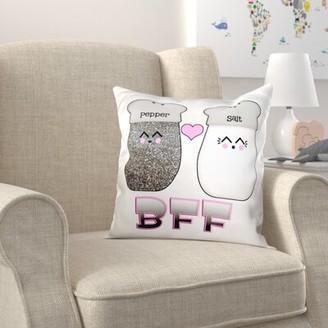 Zoomie Kids Brittingham Cute Kawaii Salt and Pepper BFF Pillow Cover