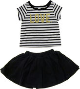 Amy Coe Love Striped Tee and Skirt - Baby Girls 3m-24m
