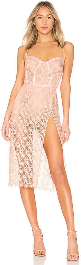 For Love & Lemons Dakota Lace Midi Dress