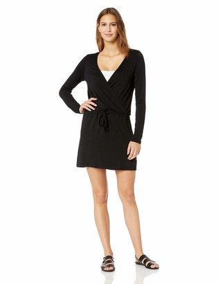 Kenneth Cole Reaction Women's Plunge Tie Front Long Sleeve Cover Up Dress