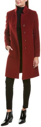 Cinzia Rocca Icons Convertible Collar Wool & Cashmere-Blend Coat