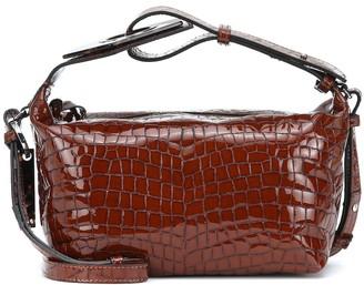 Ganni Croc-effect leather crossbody bag