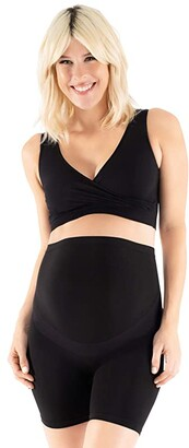 Belly Bandit Thighs Disguise Maternity Support Shorts (Black) Women's Shorts