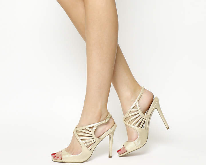 Office Hero Strappy Sandals Champagne