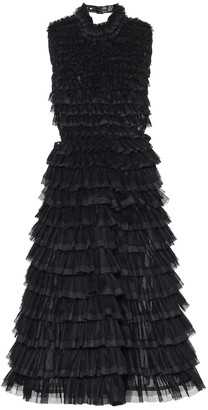 Noir Kei Ninomiya Tiered tulle midi dress