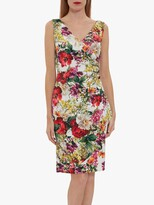 Thumbnail for your product : Gina Bacconi Karesa Flora Wrap Knee Length Dress, Multi