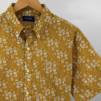 Tie Bar Liberty Capel Floral Mustard Short Sleeve Shirt