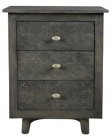Bungalow Rose Endsley 3 Drawer Nightstand Color: Gray