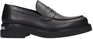 DSQUARED2 Formal Lace Up Loafers In Black Leather