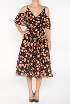 Lela Rose Black Printed Dress