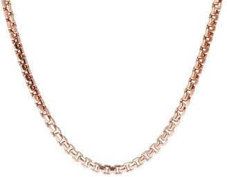 "Italian Gold 20"" Bold Round Box Chain Neck lace, 14K 22.8g"