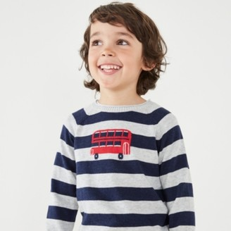 The White Company London Bus Jumper (1-6yrs), Stripe, 1-1 1/2yrs