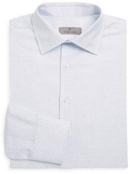 Canali Graphic Check Button-Down