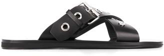 Versace Eyelet Strap Sandals