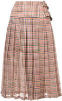Toga plaid print pleated skirt