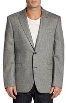 Saks Fifth Avenue BLACK Slim-Fit Melange Cashmere Two-Button Sportcoat