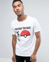 Jack and Jones Core Pokemon T-Shirt With Pokeball Print
