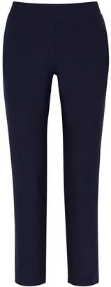 Eileen Fisher System Navy Slim-leg Trousers